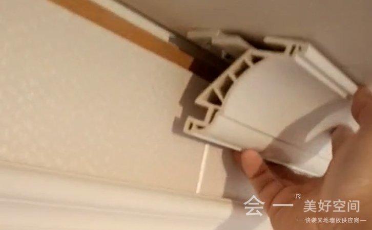竹木纤维装饰线安装方法2——会一墙板安装 beplay官网体育注册竹木纤维装饰线安装方法2实况视频